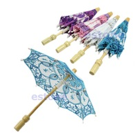 B39 Newest 2015 New Embroidered Lace Parasol Umbrella For Bridal Wedding Party Decoration Free Shipping