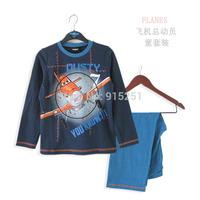 toddler kids boys cartoon plane Pajamas longsleeve shirt+pants sleepwear set  suits costumes children homewear spring autumn