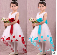 Free shipping 2015 summer children brand dress girls sleeveless princess party dress kids fashion lace formal vest dress t2682