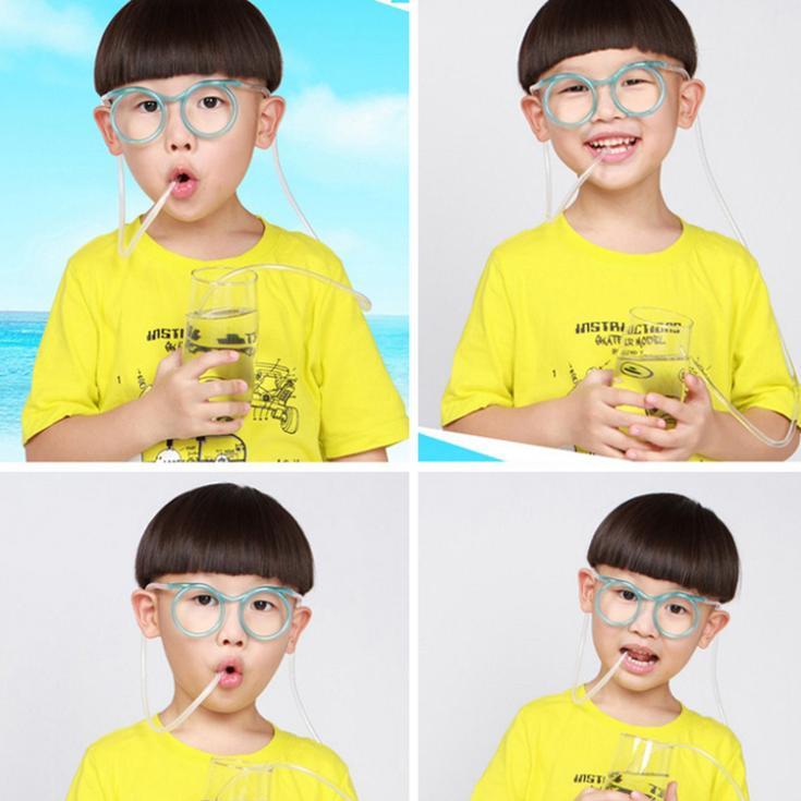 Hot Sale Fashion Cartoon Crazy DIY Straw Straw Creative Fun Funny Glasses Straws Drop Shipping HG-12985(China (Mainland))