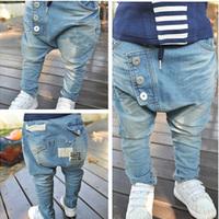 Sale Autumn Boys jeans children's denim clothing brand kids jeans pants baby kids fashion harem jeans trousers calca jeans HP010