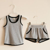 Children's sets girls clothing set boys sports clothing casual girls suit Summer solid kids clothes disfraces infantiles HB100