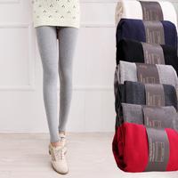 Autumn and winter legging 2014 100% cotton thickening plus velvet female modal legging skinny pants