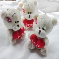 Free shipping 20pcs tatty teddy bears,plush animals bouquet,wedding Birthday gifts pendant,toys baby shower party boys key chain
