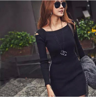 Women Fashion Sweater Party Evening Plus size Casual Slim Good Quality Knit Dresses New 2015 winter Hot Selling Knitwear