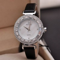 Relogios Femininos wristwatch Limited Glass New Trend Fashion Diamond Female Form Beautifully Watch Quartz Wholesale free ship
