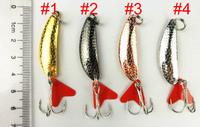 1000pcs pesca carp fishing isca artificial fishing spoon 4cm 5.7g 6 # hook spinner tackle trolling mini fishing metal spoon bait