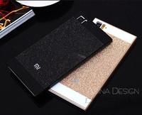 Luxury bling Glitter gold Ultrathin slim XIAOMI 3 M3 Case MI3 Protective Cover for xiaomi mi4 m4 Case mobile phone back shell