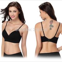 Women sports clothing for gym brand push up sports bra spaghetti strap black crop top women fitness top yoga wear female H1381