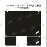 KH Special Laptop black Leather skin cover for Lenovo Thinkpad E30/E31