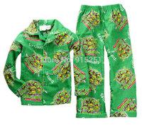 2015 new teeager boys tmnt  teenage mutant ninja turtles character coat  Pajamas set sleepwear homewear spring autumn winter