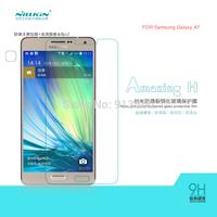 Free shipping 5pcs NILLKIN Amazing H Nanometer Anti-Explosion Glass Screen Protectors for Samsung Galaxy A7 A700