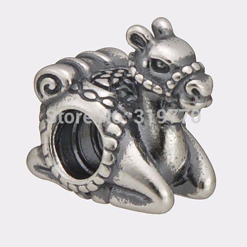 925 Sterling Silver Beads Authentic European Jewelry Fit Pandora Charms Bracelets Camel Bead
