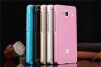 Slim Aluminum Metal Chrome Hard Bumper Acrylic Bumper Case Cell Phone Bumper For  Xiaomi Hongmi 2 Redmi 2