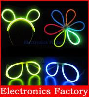 100 x 20CM Multi Color LED Glow Stick Light Bar Party Fun Safety Glowstick Glowsticks Bracelet  + 100 PCS Bonus Connectors