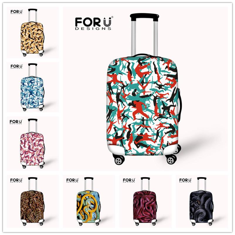 Fashion Camouflage Travel Luggage Protective Cover Snake Travel Suitcase Set Men Luggage Cover Apply For 26''-30'' Suitcase Set(China (Mainland))