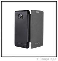 Big Sale !!! Side Flip Battery Cover Skin Case for Samsung Galaxy S2 II i9100