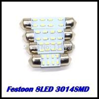 wholesale 100pcs/lot 31MM 36MM 39MM 41MM 8SMD 3014SMD C5W Interior Festoon car LEDs Bulb White auto led lamp
