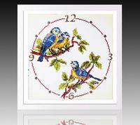 5D DIY diamond pattern painting clock birds animals crystals embroidery paintings rhinestones chinese mosaic decorate needlework