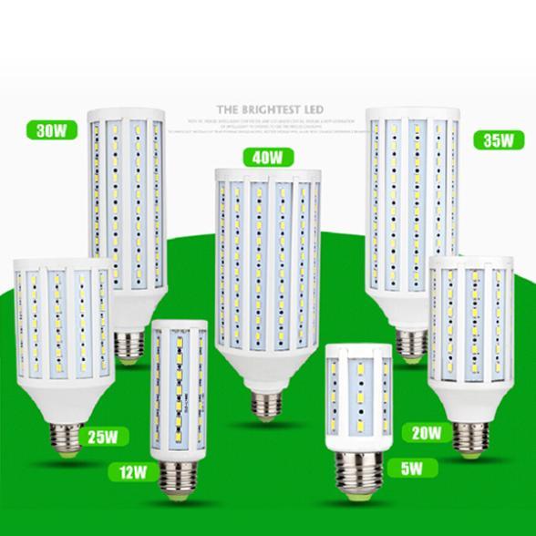 FREE SHIPPING 360 degree Super bright 5W 10W 15W 20W 25W 30W 40W LED Bulb E27 Corn light AC220V 230V Cold / Warm White(China (Mainland))