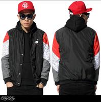 New design 2015 Spring fashion baseball casual jacket men cothing hip hop sport uniform patchwork outdoor coat outerwear