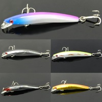 2015 New arrival Lot 5pcs Top Water Minnow Fishing Lures Crank Baits Floating Rattles 8cm 5g for good useful