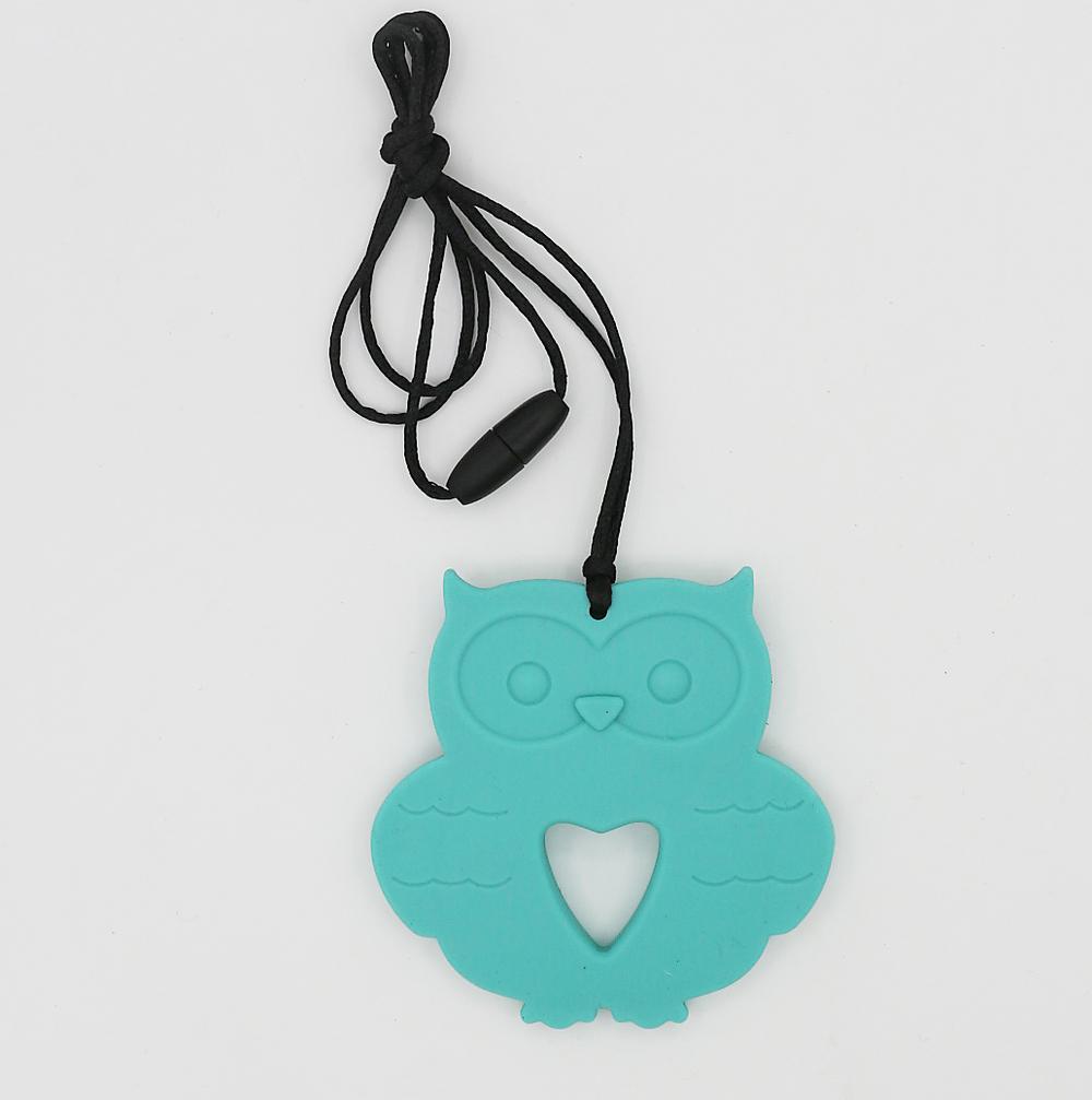 Mini Order $8(mix order $8) Owl siliconeTeething pendant Free, Owl Silicone Teether Pendant for Nursing Teething Ornaments(China (Mainland))