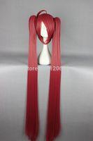 WOMEN HOT 130cm Long DATE A LIVE-Itsuka Kotori Red Cosplay Wig Ponytails Kanekalon Hair brazilian no Lace Front Wigs