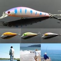 New Design Lot 4pcs Minnow Plastic Fishing Bait Fake Lures Floating Rattles 9.5cm 11.g