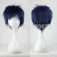 New Hot Kuroko no Basket Basuke Aomine Daiki Cosplay Costume Wig made Kanekalon Hair brazilian no Lace Front Wigs