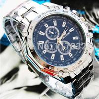 2015 new men movement watch Sports Stainless Steel Business Quartz calibre Analog Wrist wristwatch man relogios/clock watches