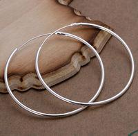 New Women Men Earrings Jewelry 925 Sterling Silver Earrings Fashion Women Big Hoop Earrings Jewelry Wholesale