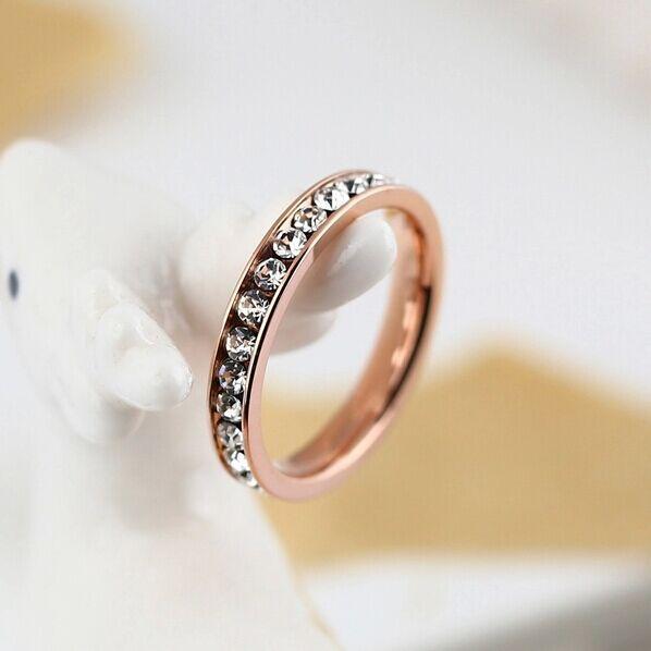 vente en gros pavé de diamants bague de mariage