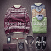 FREE SHIPPING NEW MENS autumn Pullover solid casual sweater knitted O V-Neck Sweater slim people(China (Mainland))