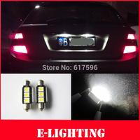 2pcs 36mm C5W LED Festoon White Canbus Error Free License Plate Light Bulb For BMW E30 E39 E60 E61 E38 E46 E65 E90 325i 330i M3