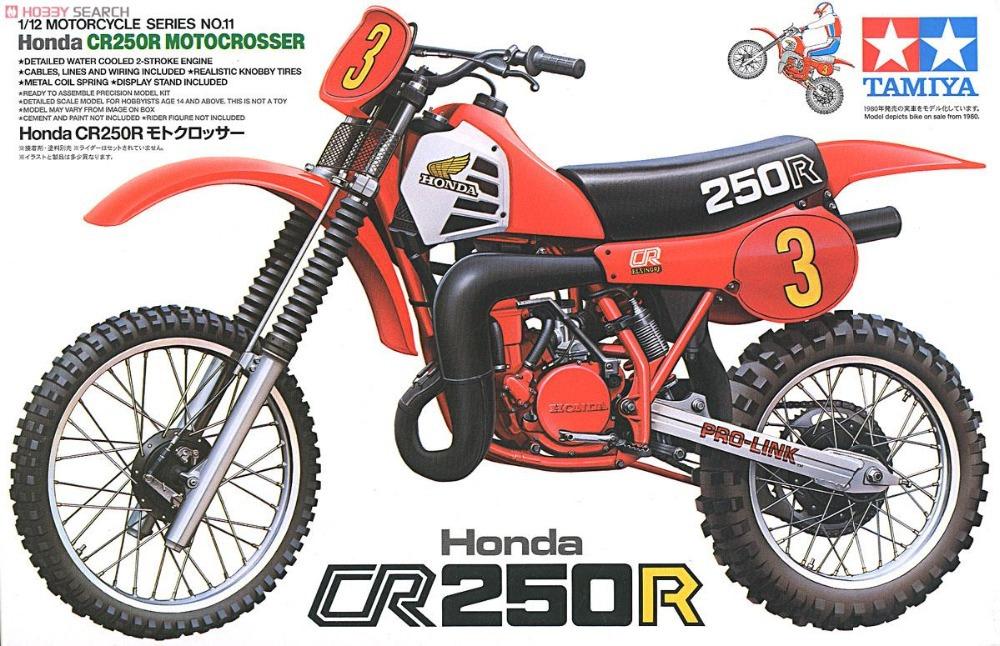 Tamiya 14011 1/12 Scale Model Kit Honda CR250R Motocrosser Racing Dirt Bike Free Shipping(China (Mainland))