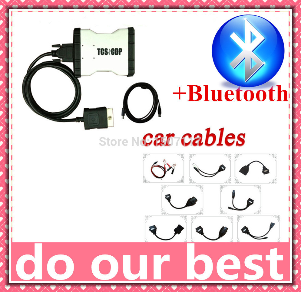 2014R2 software!!! New TCS cdp with Bluetooth function + full 8 pcs car cables cdp cables full set for car--- DHL free ship !!!(China (Mainland))