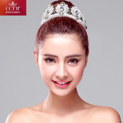 Free shipping bride headdress white bud silk flowers crown high grade marriage hair accessories