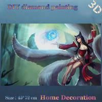 DIY Full diamond embroidery League Of Legends Ali Gumiho diamond painting diy decor home decor Handicraft Game lovers gift