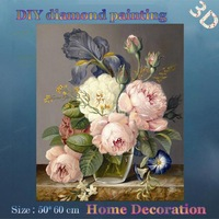 DIY Full diamond embroidery Flower arrangement delicate charming Diamond Mosaic Home decorative Hanging pictures Handmade crafts