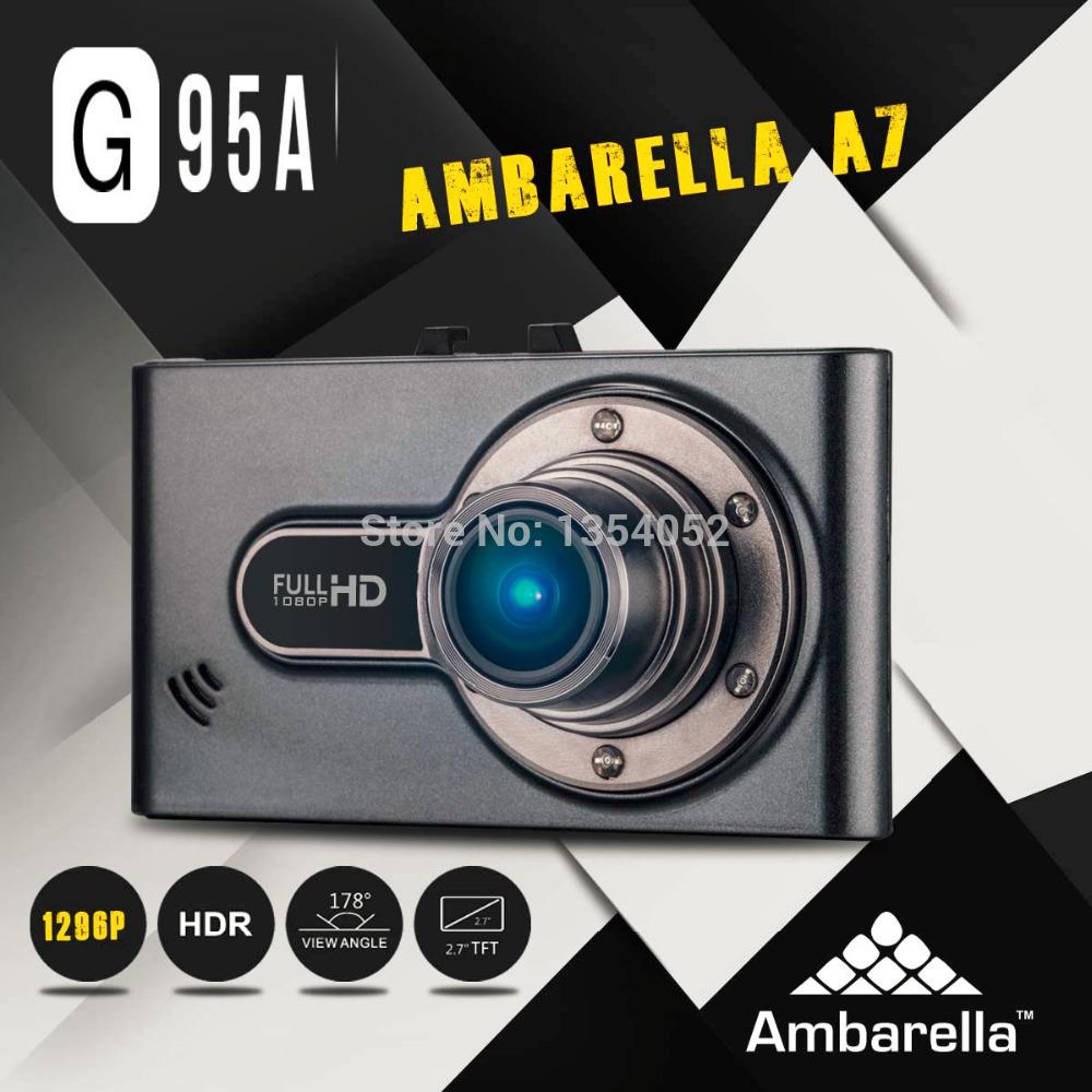 Автомобильный видеорегистратор Oem G95A A7 Ambarella A7la50 DVR HD 2304 * 1296 30fps 2.7 HDr + G h.264 Cam автомобильный видеорегистратор oem g90 1080p hd 170 ambarella a7la30 dvr