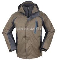 S-3XL brand man outdoor sports Jacket Men's waterproof windproof skiing Jackets & Coats two-in-one coat+ softchell jacket