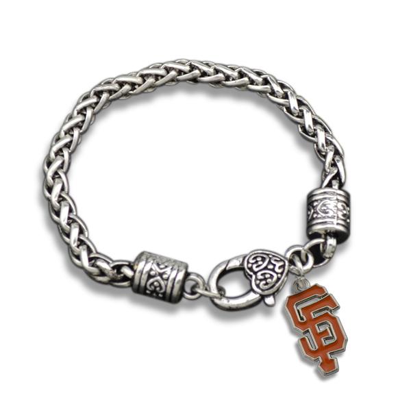 Hot Sale 20Pcs/lot Zinc Alloy Metal Plating Single-sided San Francisco Giants Baseball Enamel Charms Bracelets(China (Mainland))