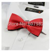 Retail Hot Sales Korean Casual Mens Black Red Bowties Solid Bowtie Groom Bow Tie Cravat Bowties Gentlemen Business Bow Tie
