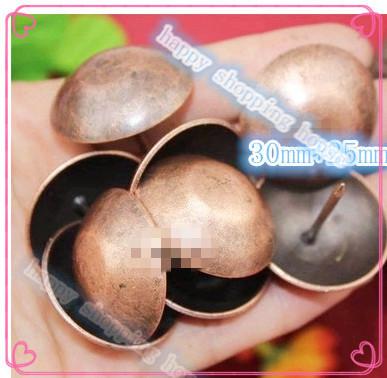 30mm diameter bubble nail doornail antique decoration sofa bronzed nail bulla nail sofa decoration(China (Mainland))