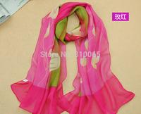 Women long silk scarf High Grade Velvet chiffon scarf Lady Beach Shawl Turban towel Wrap Scarf 160*50cm 5 colors free shipping