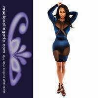 Женское платье Maclove sexy women fashion dress Vestidos ML17907 long sleeve dress