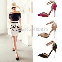 gladiator sandals women stiletto heels women pumps high heel sandals rivet wedding dress shoes pink nude pointed toe heels