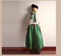 2015 Spring Summer Original Design Vintage Skirt Women's Linen Bust Skirt Easy-to-match Chic  Comfortable Ladies' Linen Skirt
