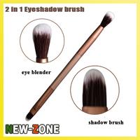 (Min. Order 10$)  2 in 1 Makeup eye shadow brush eye blender super fine soft contour makeup brush multi function Cosmetic tool